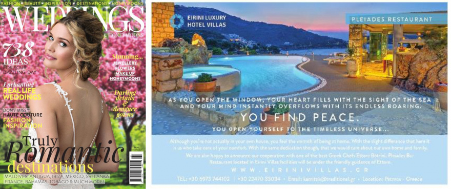 Weddings magazine - Eirini Villas in the Truly Romantic Destinations